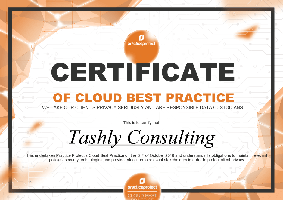 Cloud Best Practice Certification | Tashly Consulting Xero Bookkeepers Adelaide